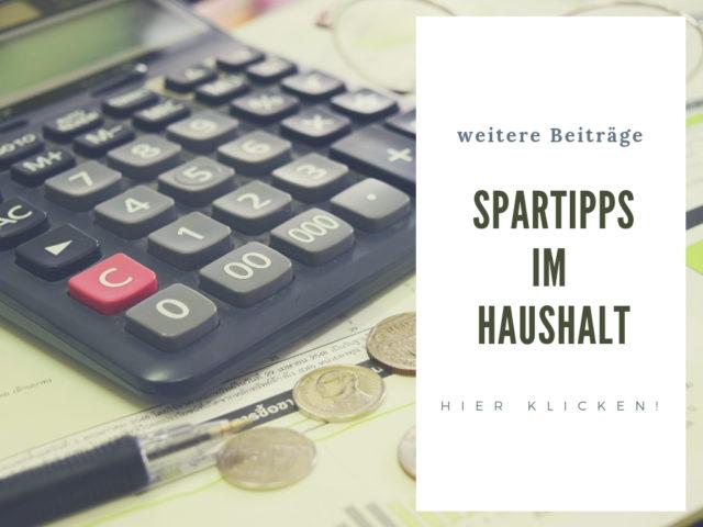 Spartipps im Haushalt